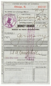 Postal Money Order von 1909