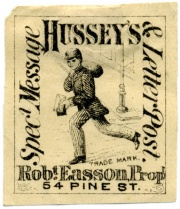 1877 Lokale Briefmarke der Hussey Post