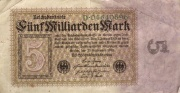 Reichsbanknote 5 Milliarden Mark